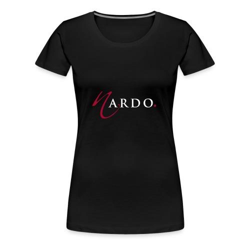 NardoLogoFinal Trans White Letters - Women's Premium T-Shirt