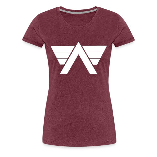 Bordeaux Sweater White AeRo Logo - Women's Premium T-Shirt