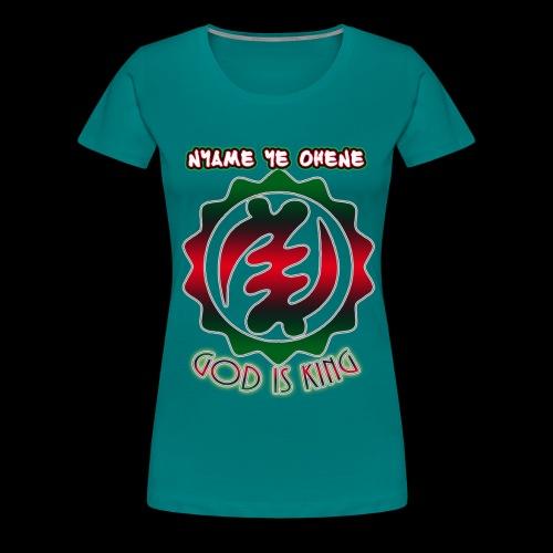 God is King Adinkra - Women's Premium T-Shirt