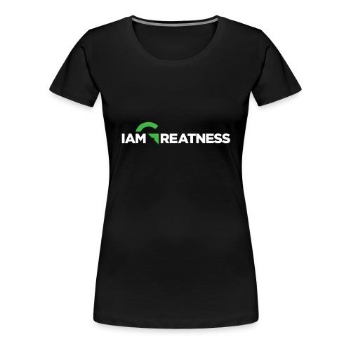 White iAmGreatness Logo - Women's Premium T-Shirt