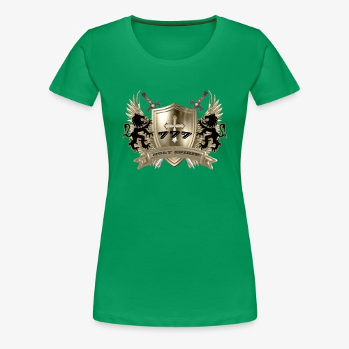 HOLY SPIRIT GOLD SHIELD - Women's Premium T-Shirt