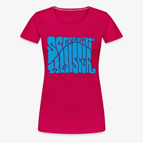Screamin' Whisper Retro Logo - Women's Premium T-Shirt