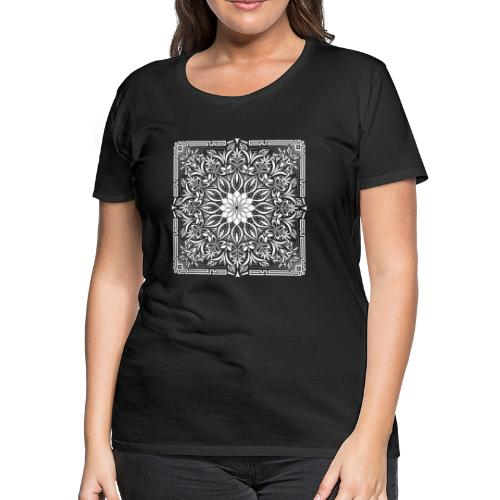 Psychedelic Mandala Geometric Illustration - Women's Premium T-Shirt