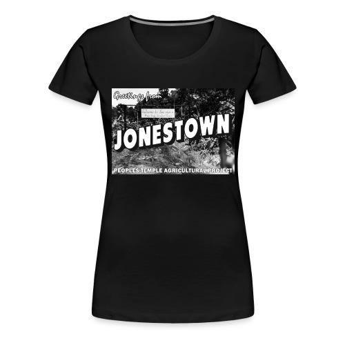 Jonestown Postcard - Women's Premium T-Shirt