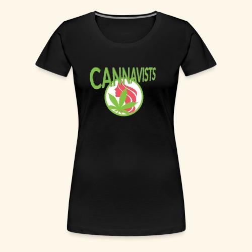 CANNAVIST logo - Women's Premium T-Shirt