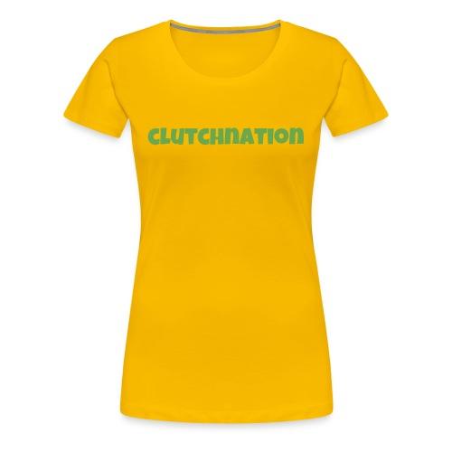 green clucthnation merch lucky font - Women's Premium T-Shirt