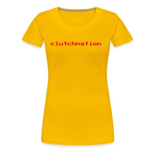 clutchnation merch red video game - Women's Premium T-Shirt