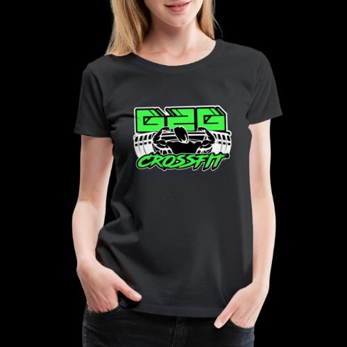 Green Black Half Logo - Women's Premium T-Shirt