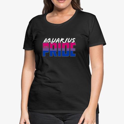 Aquarius Bisexual Pride Flag Zodiac Sign - Women's Premium T-Shirt