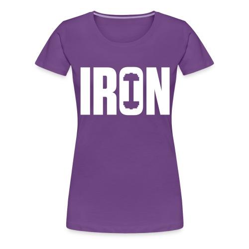 IRON WEIGHTS - Women's Premium T-Shirt