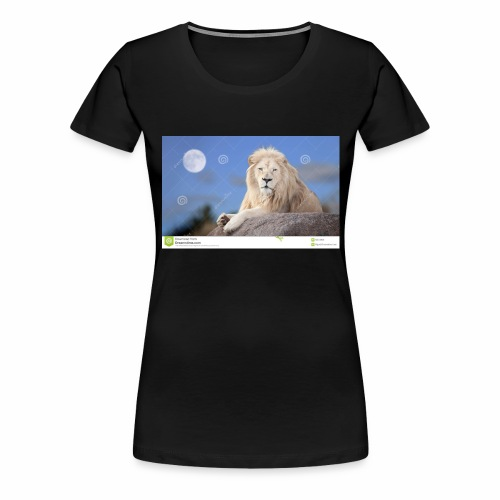 white lion moon light 62073026 - Women's Premium T-Shirt