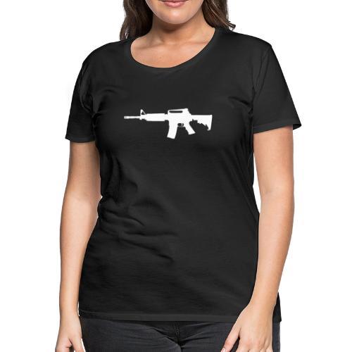 AR-15 Rifle Silhouette - Women's Premium T-Shirt
