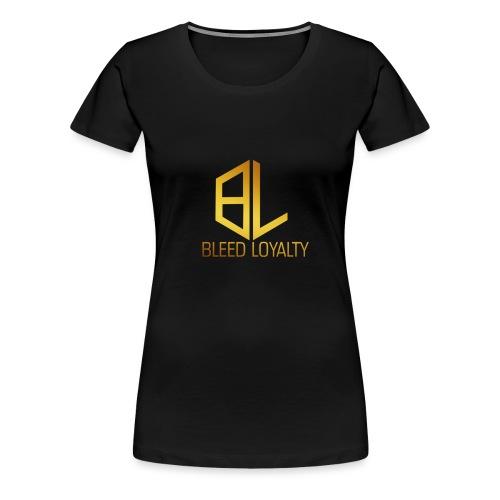 Bleed Loyalty Gold Logo - Women's Premium T-Shirt