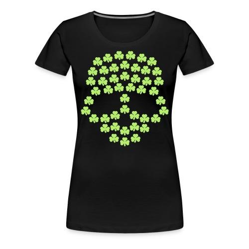 Shamrocks Skull - Women's Premium T-Shirt