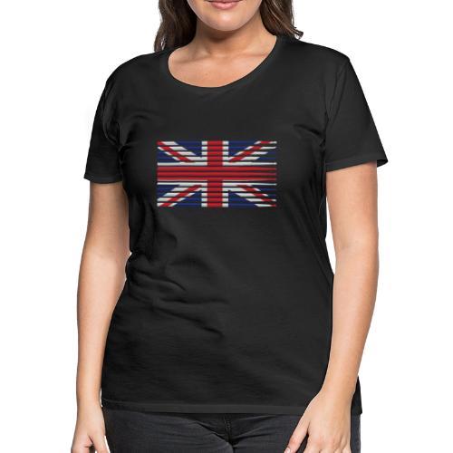 United Kingdom drummer drum stick flag - Women's Premium T-Shirt