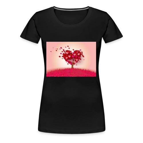 Heart Love Tree - Women's Premium T-Shirt