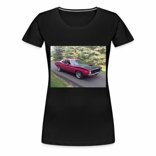 Plymouth 'Cuda 440+6 Pak 4-Speed - Women's Premium T-Shirt