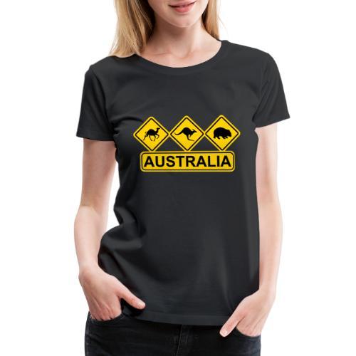 Australian 3 Animal Street Sign - Women's Premium T-Shirt
