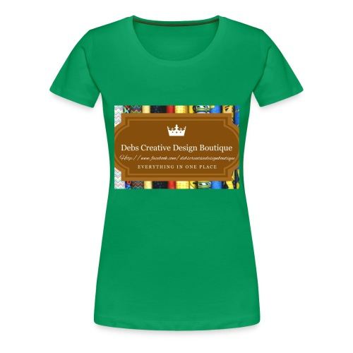 Debs Creative Design Boutique with site - Women's Premium T-Shirt