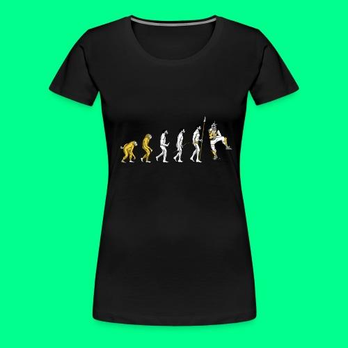 the L in Evolution - Women's Premium T-Shirt