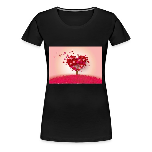 Heart Love Tree - Women's Premium T-Shirt