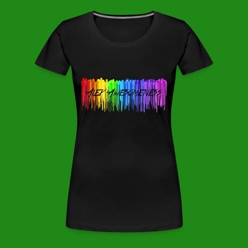 Rainbow Drip AA styled - Women's Premium T-Shirt