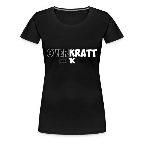 overkratt words and logo - Women's Premium T-Shirt