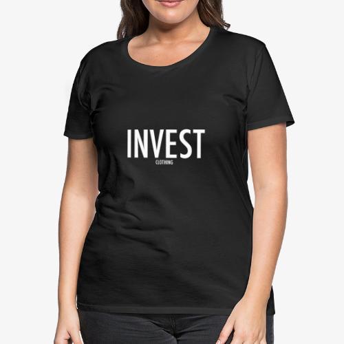 Invest Clothing White Text - Women's Premium T-Shirt