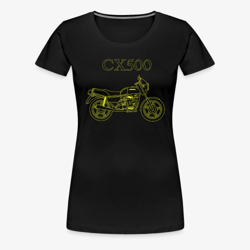 CX500 line drawing - Women's Premium T-Shirt