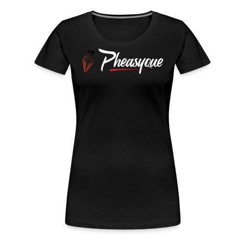 Original White Pheasyque Logo - Women's Premium T-Shirt