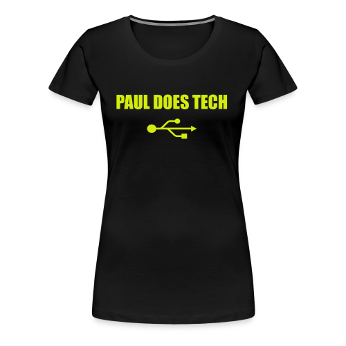 Paul Does Tech Yellow Logo With USB (MERCH) - Women's Premium T-Shirt