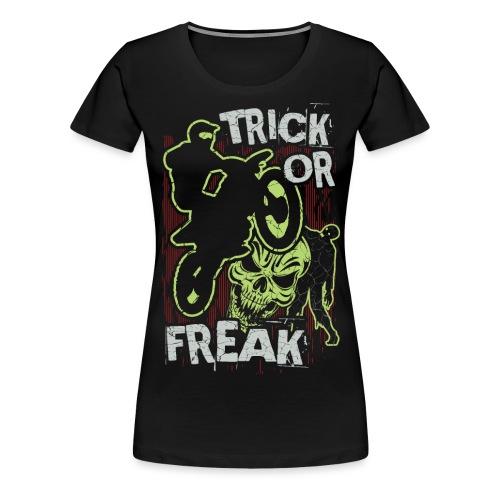 Motocross Trick or Treat - Women's Premium T-Shirt