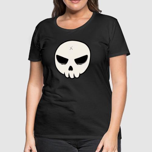 Skull Streetart Halloween cross bones - Women's Premium T-Shirt