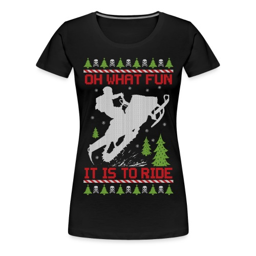 Ugly Christmas Snowmobile - Women's Premium T-Shirt