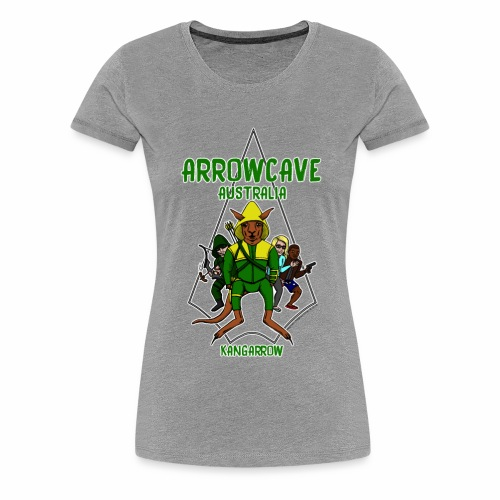 Arrow Cave Logo - Light - Women's Premium T-Shirt