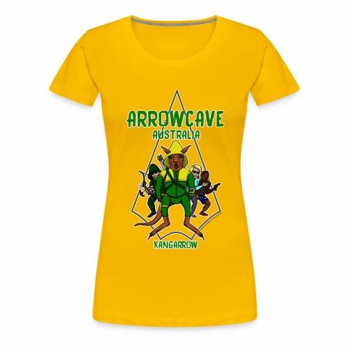 Arrow Cave Logo - Light - Women's Premium T-Shirt