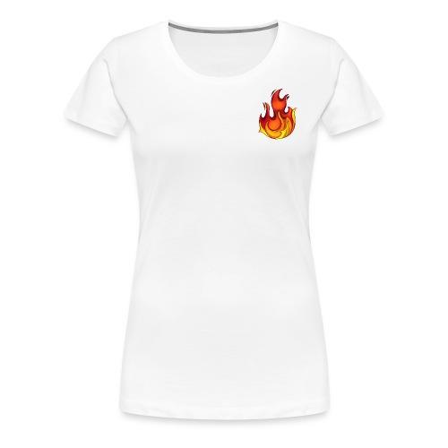 Scorchy White Logo - Women's Premium T-Shirt