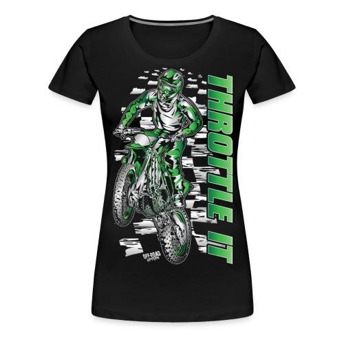 Motocross Throttle It Kawasaki - Women's Premium T-Shirt