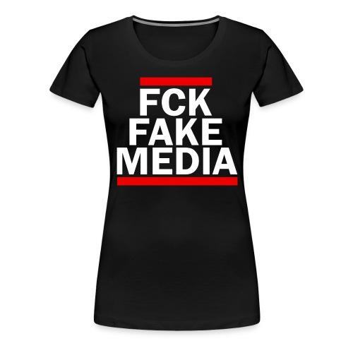 FCK FAKE MEDIA - RED - Women's Premium T-Shirt