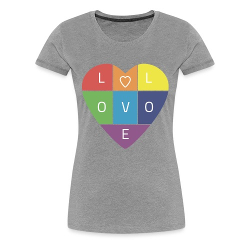 Rainbow Heart - Women's Premium T-Shirt