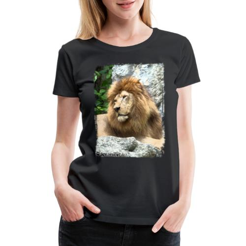Lion On Rocks - Women's Premium T-Shirt