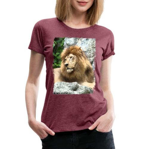 Lion On Rocks - Women's Premium T-Shirt