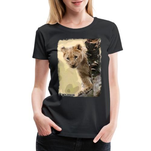 Lion Cub Peeking - Women's Premium T-Shirt