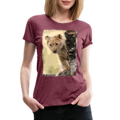 Lion Cub Peeking - Women's Premium T-Shirt