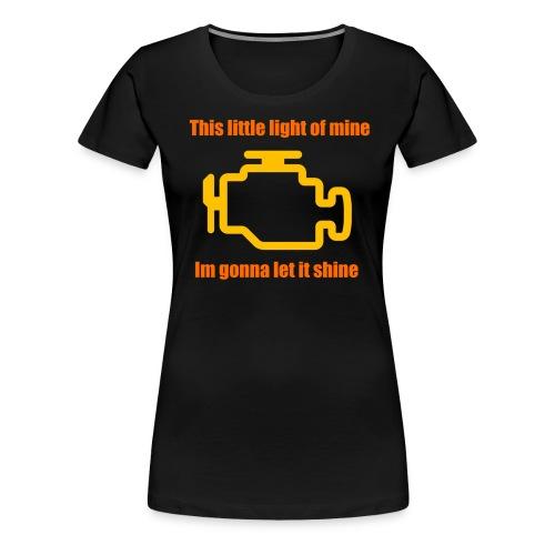 check engine light - Women's Premium T-Shirt
