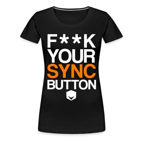 your sync button png - Women's Premium T-Shirt