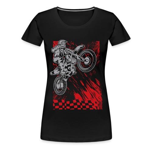 Motorsports Race Flag Deco - Women's Premium T-Shirt