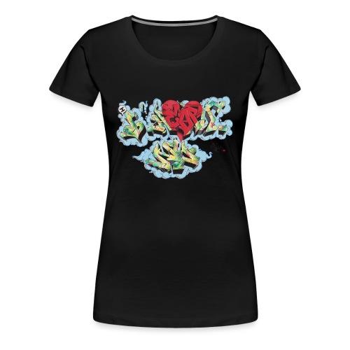 Nover - Design for New York Graffiti Color Logo - Women's Premium T-Shirt