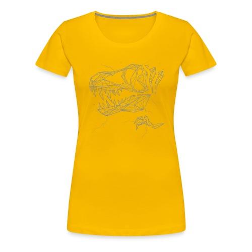 Jurassic Polygons by Beanie Draws - Women's Premium T-Shirt
