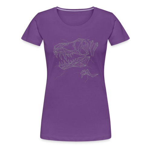 Jurassic Polygons by Beanie Draws - Women's Premium T-Shirt